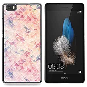 Stuss Case / Funda Carcasa protectora - Wallpaper Arte Moderno rosa claro - Huawei Ascend P8 Lite (Not for Normal P8)