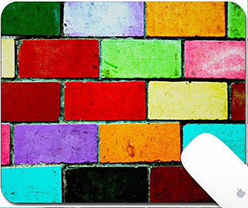 Luxlady Gaming Mousepad 9.25in X 7.25in IMAGE: 21590219 The picture background is Wall made of colorful bricks (Patio Brick Sand And)