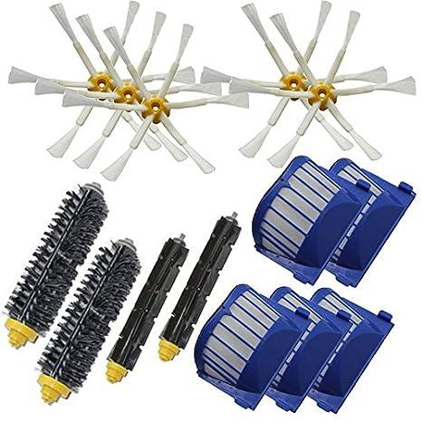 XZANTE Cepillo batidor + Filtro Aero Vac 6 Cepillo Lateral Armado para Robot Aspirador iRobot Roomba 528 529 595 610 620 625 630 650 660: Amazon.es: Hogar