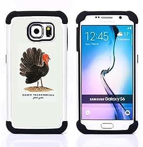 """Pulsar ( Cita de Acción de Gracias Usa vacaciones"""" ) Samsung Galaxy S6 / SM-G920 SM-G920 híbrida Heavy Duty Impact pesado deber de protección a los choques caso Carcasa de parachoques [Ne"""