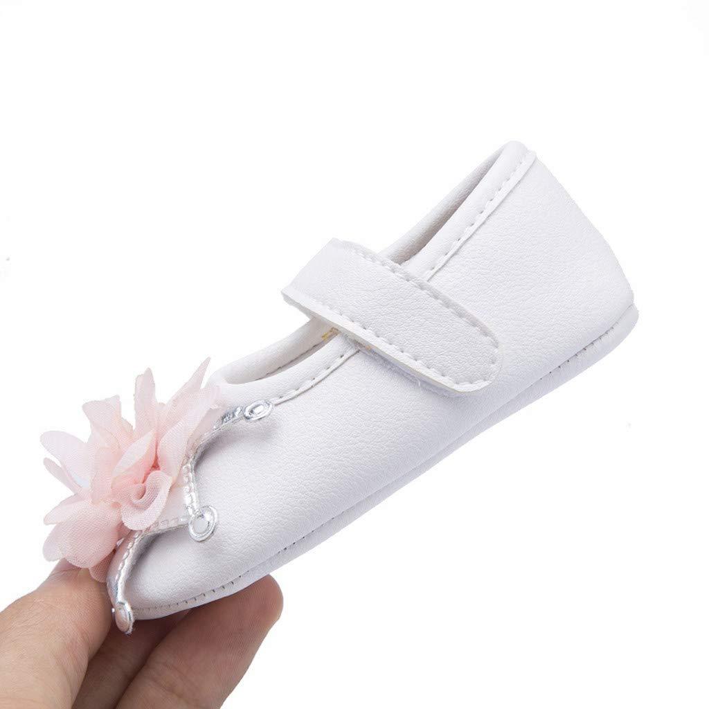 Baby Mary Jane FAPIZI Infant Boy Girl Big Flower Ornament Shoe Toddler Non-Slip Casual Princess Shoes