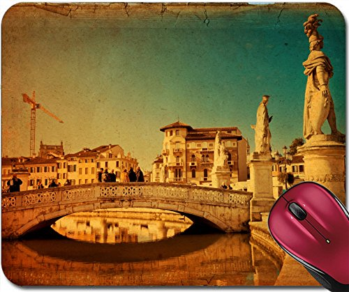 (Liili Mousepad Padova Italy February 16 2013 View of The Canal with Statues on Prato Della Valle in Padova Veneto Italy Texture Retro 28058148)