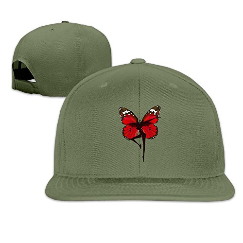 LINNA Custom Unisex-Adult The Butterfly Women Band Snapback Baseball Visor Cap ForestGreen (Shark Tank Products Jewelry compare prices)