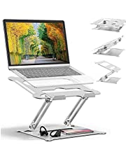 Adjustable Laptop Stand Oli & Ode Table Stand Portable Ergonomic Notebook Stand with Heat-Vent, Heavy Duty Laptop Holder Compatible with MacBook Pro/Air, Dell, HP, other laptop
