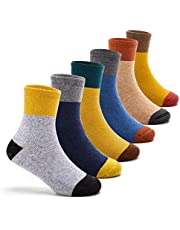 Boys Thick Winter Socks Kids Warm Seamless Socks 6 Pack