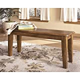 Rustic Wood Bench with Hand-applied Hickory Finish Review