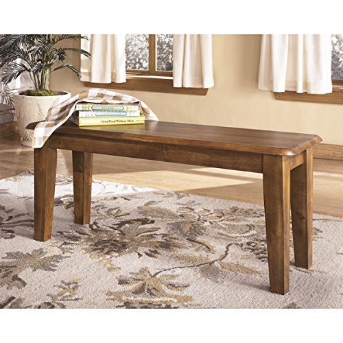 Rustic Wood Bench with Hand-applied Hickory Finish by Ashley