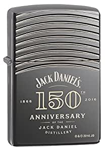 Zippo Jack Daniel's 150 Anniversary Armor Black Ice Pocket Lighter