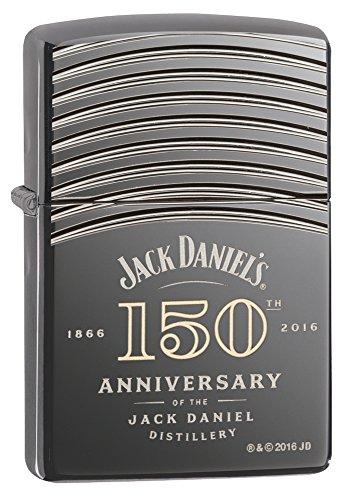 Zippo Jack Daniel's 150 Anniversary Armor Black Ice Pocket Lighter (Case Armor Zippo)