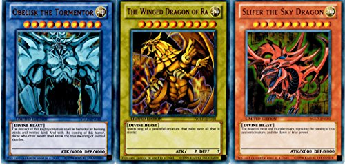 YuGiOh Egyptian Gods Set Ultra Rare Version YGLD