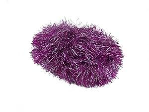 2x rosa morado espumillón Sparkle pestaña ovillo de 50G Ovillo de lana bola libre bufanda patrón