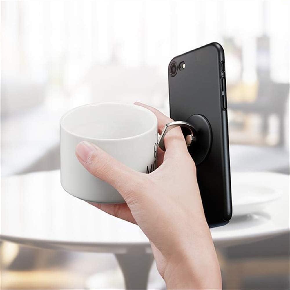 Soporte para tel/éfono m/óvil MuStone Huawei Series soporte para timbre para tel/éfono celular soporte redondo de metal con forma de rotaci/ón de 360 grados para iPhone Series Samsung Galaxy Series