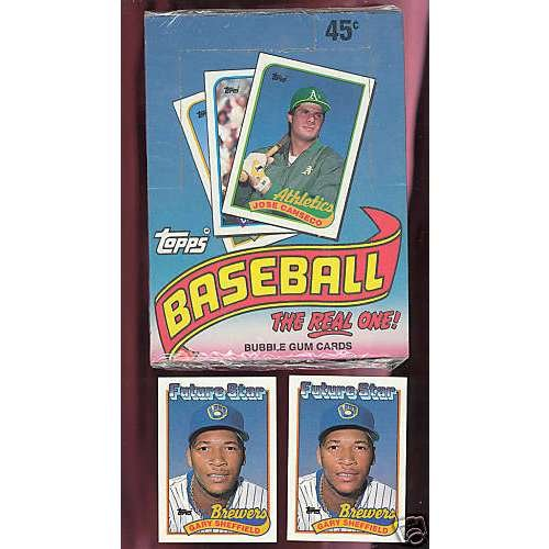 fan products of 1989 Topps Baseball Set Wax Pack Box FACTORY SEALED Gary Sheffield Rookie Card
