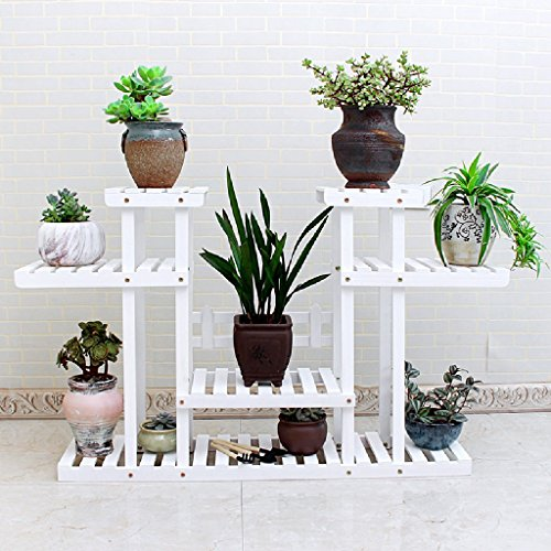 Flower Rack Balcony Indoor And Outdoor Flower Stand Multi - Storey Floor Landing Flower Pots Hanging Hanger Movement ( Color : No wheels ) by LITINGMEI Flower rack