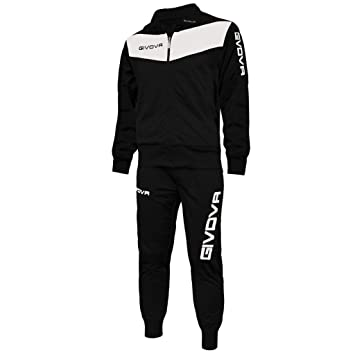 e628d47518add Givova Visa, Men's Gym Suit, Multicoloured(black/white),5XS