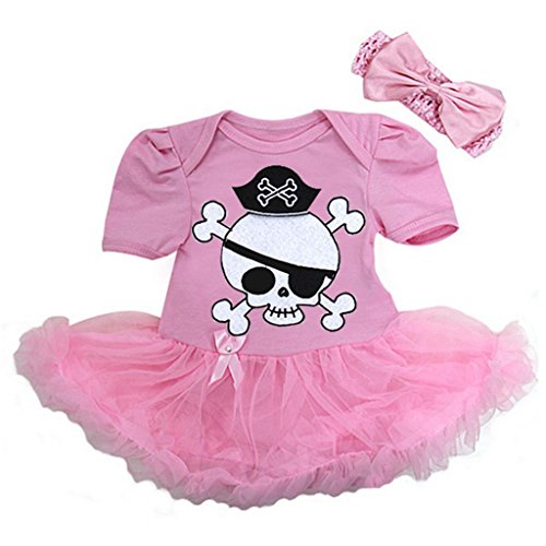 Baby Pirate Costume Bodysuit Tutu X-Large Pink