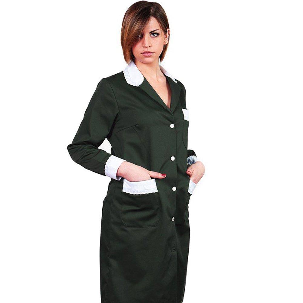 Fratelliditalia Camice donna cameriera lavoro pulizie casacca cotone camera domestica casa