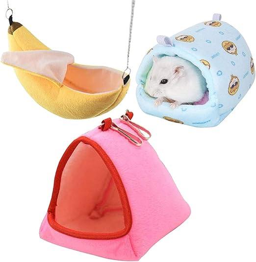 GOODGDN Hamster Hamaca Hamaca Jaula De Animales Pequeños Algodón Nido para Dormir Cama para Mascotas Ratón Hámster Jaula De Juguete: Amazon.es: Productos para mascotas