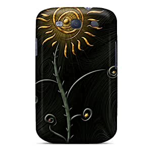 Rugged Skin Case Cover For Galaxy S3- Eco-friendly Packaging(flower Of The Sun)