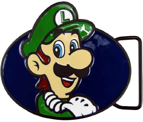 Nintendo MARIO LUIGI Licensed Metal BELT BUCKLE (Metal Licensed Belt Buckle)