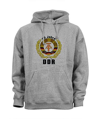 Ddr Per Maglione Felpa Sweater 60 Hoodie Uomo Jahre Cappuccio Logo rp4rx8qw