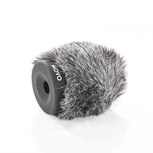 Movo WS-G60 Furry Rigid Windscreen for Microphones 18-23mm in Diameter and up to 2.3