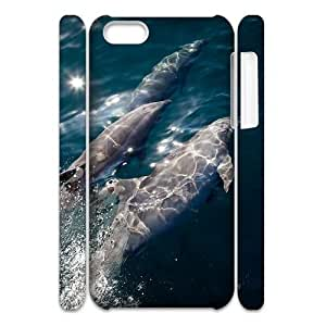 Hjqi - DIY Dolphins 3D Cell Phone Case, Dolphins Custom Case for iPhone 5C