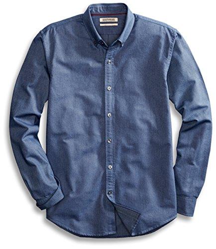 cheap Goodthreads Men's Standard-Fit Long-Sleeve Solid Oxford Shirt