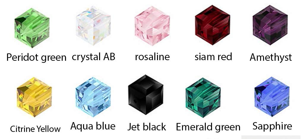 71d5f250e427f Wholesale Mixed Lot Cube Crystal Beads 6mm Square Beads (300pcs) for  Earrings Bracelet Necklace Anklet Charm Keychain Jewelry Craft Making CCS12