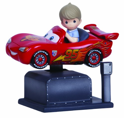 Precious Moments, Disney Showcase Collection, Lightning McQueen Kiddie Ride, Resin Music Box, 134101