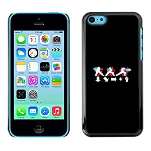 PC/Aluminum Funda Carcasa protectora para Apple Iphone 5C Langauge Symbols Black White Red / JUSTGO PHONE PROTECTOR
