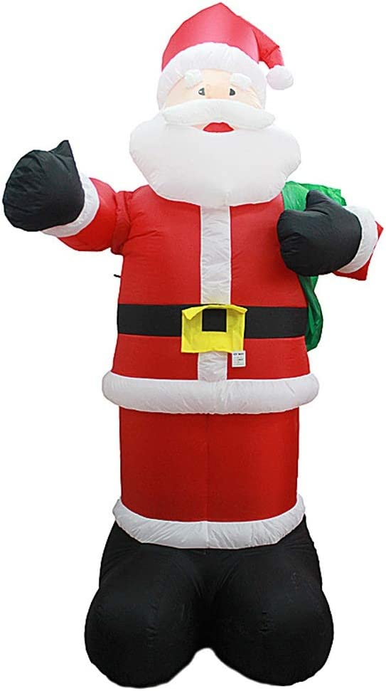 Amazon Com Hobbms Christmas Stage Costume Funny Clothing Doorway Theme Party Outdoor Birthday Party Outdoor Activities Christmas Self Inflating Santa Claus Inflatable Model Home Kitchen