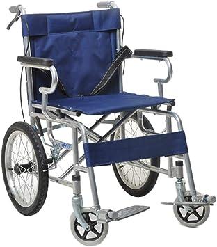 Carretilla para discapacitados, silla de ruedas plegable