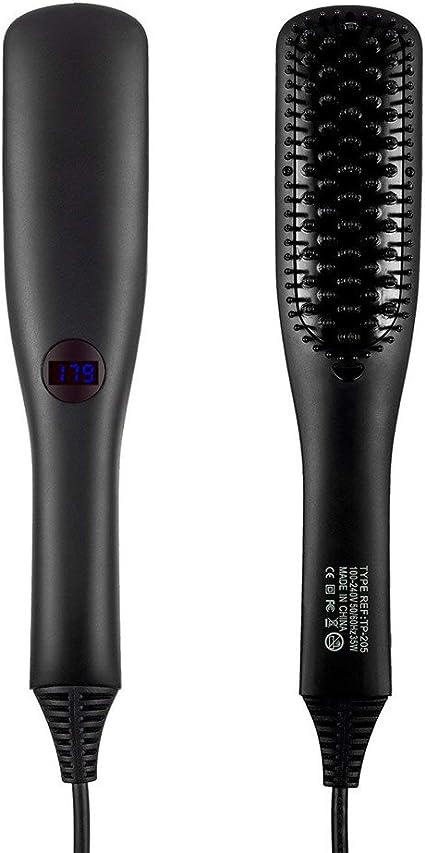Longsuodia - Cepillo alisador de pelo, 2 en 1, cepillo eléctrico ...