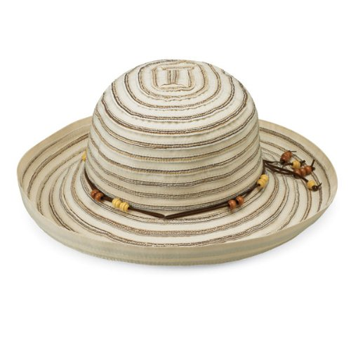Wallaroo Women's Breton Sun Hat - UPF 50+ - Packable, Ivory