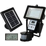 Frostfire Digital 80 LED Ultra Bright Solar Powered Motion Detector Light