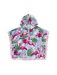 OMDPZwe Baby Girl Summer Clothes Cloak,Cute Kid Flamingo Button Hoddie Poncho Outwear Swimsuit Coverups