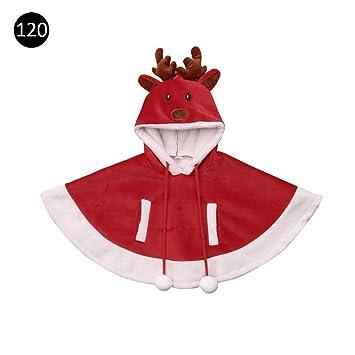 Sanmubo Kinder Weihnachten Umhang Winter Rote Jacke mit