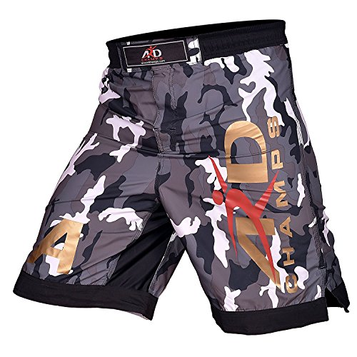 ARD Camo Pro MMA Fight Shorts Camouflage UFC Cage Fight Grappling Kickboxing (Split Seam Fight Shorts)