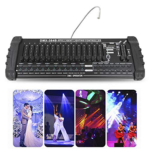 384 Stage Lighting Console with Light Plug, Stage Light Controller Console Transmitter with Charging Port Channel Universal LED Lighting Usa Desk Lamp Operator for New Channels from LOYALHEARTDY19