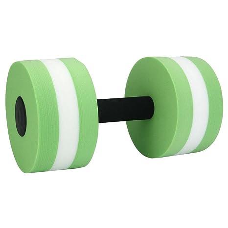 peanutcool 1 par Aqua Fitness pesas mancuernas de espuma mano bares piscina resistencia ejercicio, Verde