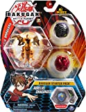Bakugan Starter Pack 3-Pack, Aurelus Dragonoid, Collectible Action Figures, for Ages 6 and Up