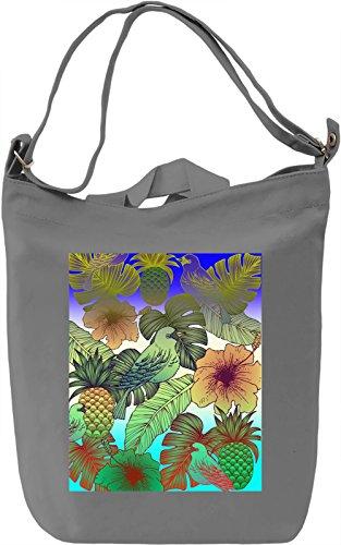 Tropical View Borsa Giornaliera Canvas Canvas Day Bag| 100% Premium Cotton Canvas| DTG Printing|