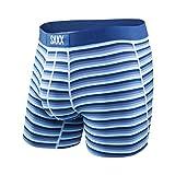 Saxx Mens Vibe Modern Fit Boxers Underwear Large Tonal Navy Hiker Stripe