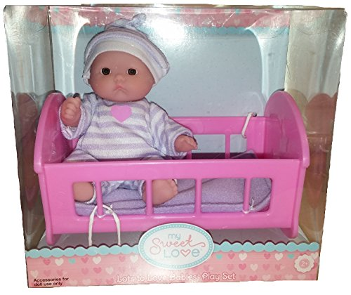 NEW! My Sweet Love Lots to Love Mini Baby in Cradle