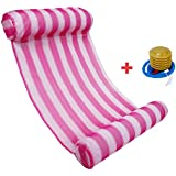 Powkoo Premium Swimming Pool Float Hammock Water Hammock Lounge Floating Lounger Chair (Pink)
