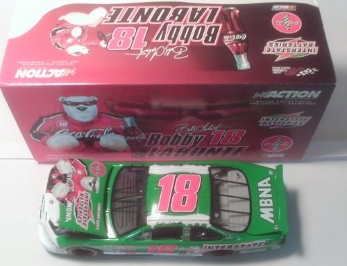 Bobby Labonte #18 Coca Cola Bear 2001 Interstate Batteries Pontiac Grand Prix Action Racing Collectables 1/24 Scale Hood, Trunk Open Limited Production (Action Racing Collectables Hood)