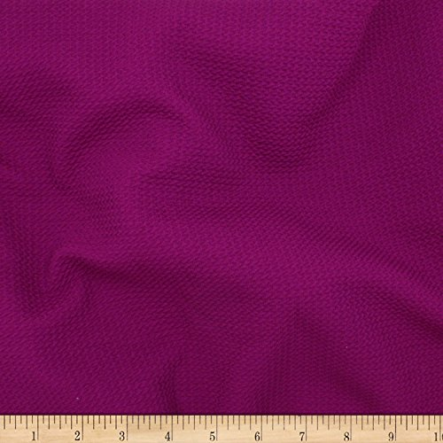 TELIO Paola Pique Liverpool Knit Magenta Fabric By The Yard