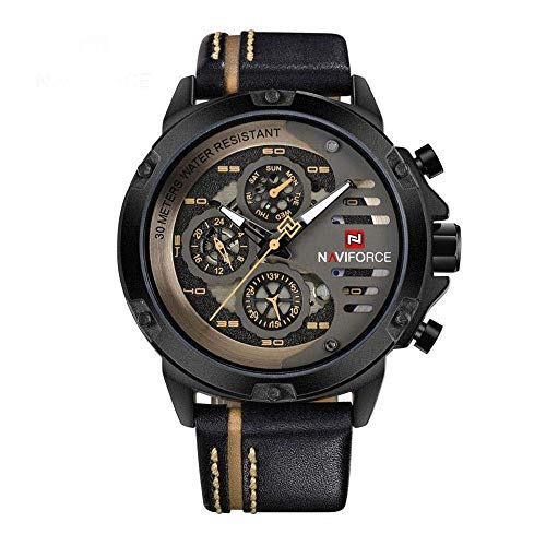 NAVIFORCE Chronograph NF9110-B-Y-BN Black Men's Watch
