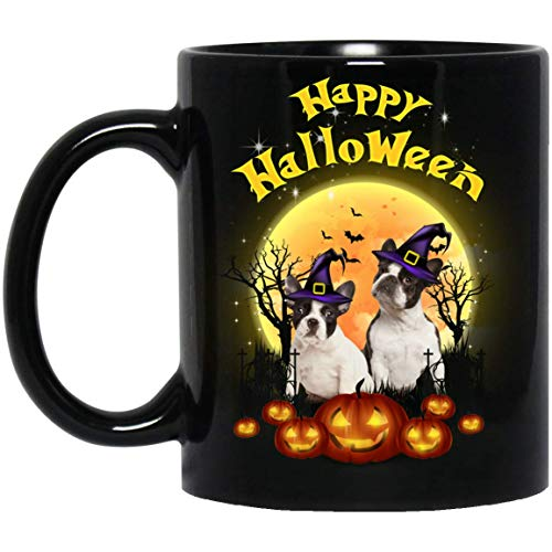 Funny French Bulldog Happy Halloween Dog Lovers Mug Decorations Gifts -